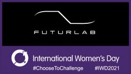 International Women's Day and FuturLab logo