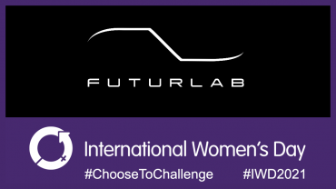 International Women's Day and FuturLab logo